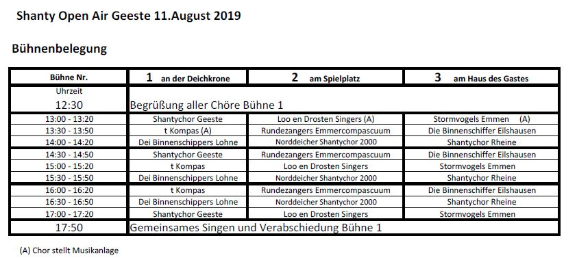 Bhnenbelegung Open Air 2019